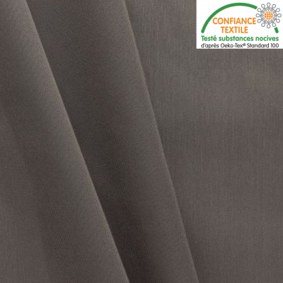 Tissu PUL imperméable gris au mètre labelisé Oeko-Tex