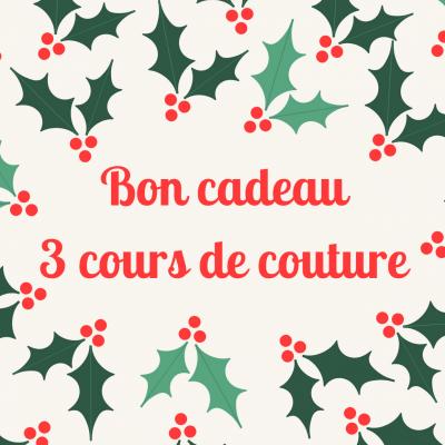 Bon cadeau 3 Cours de couture loisir