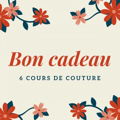 Bon cadeau 6 Cours de couture loisir