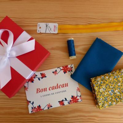 Kit couture cadeau (bon pour 1 cours + matériel)