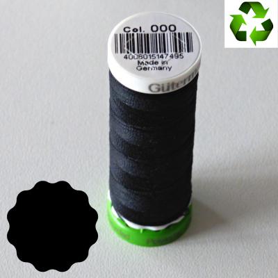 Fil Gütermann recyclé tout textile 100m _ col 000 (noir)